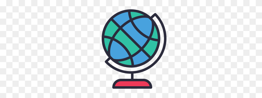 Globe Icon Outline Filled - Globe Icon PNG
