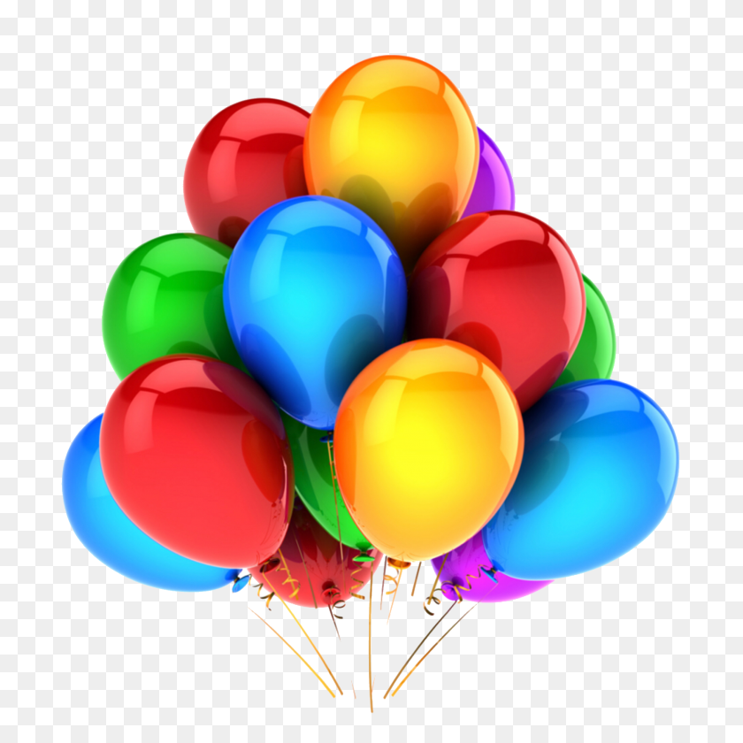 2048x2048 Globos Colourful Png Sticker Tumblr Hbd Happybirthday - Globos PNG