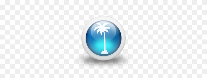 Glossy Blue Palmtree - Palm Tree PNG Transparent