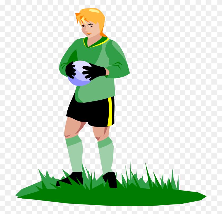 Goalkeeper Goaltender Ice Hockey Football - Football Cartoon Clipart