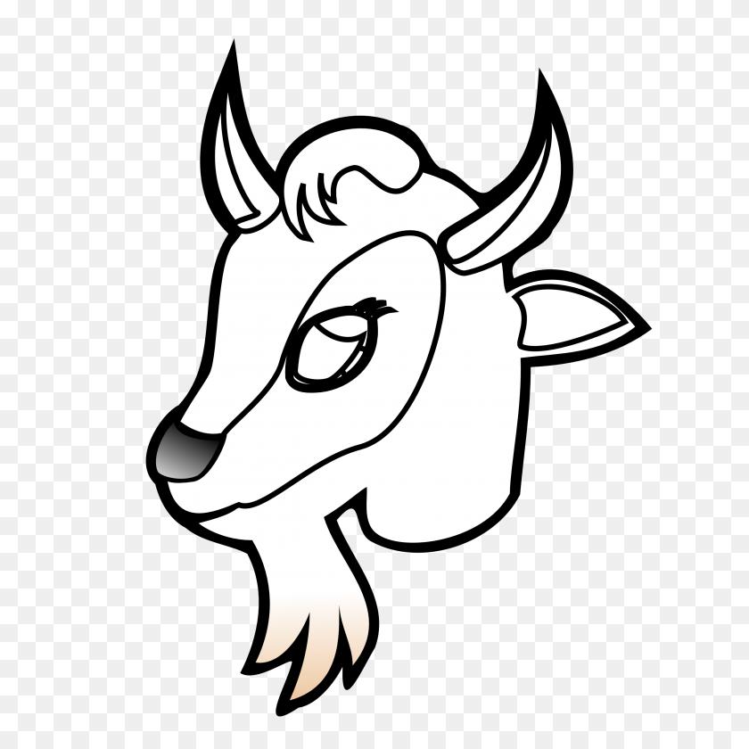Goat Clipart Black And White - Farm Animals Clipart Black And White