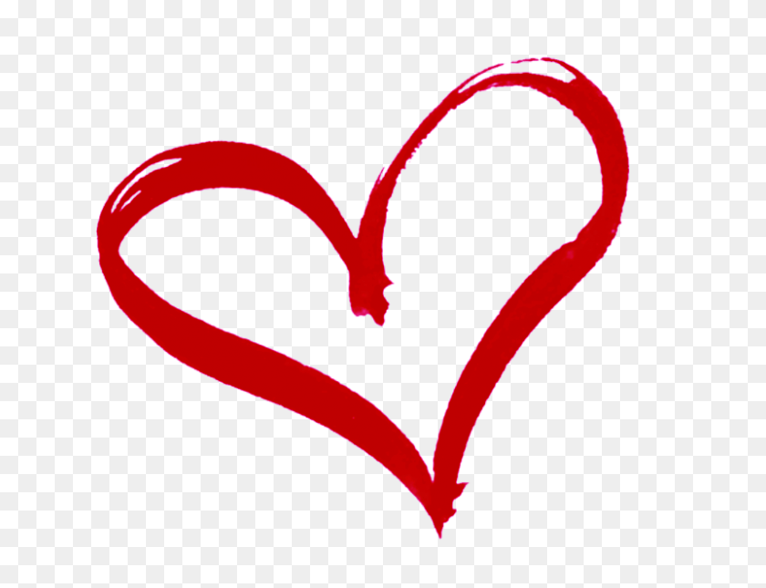 God's Heart Along The Way Heart, Heart Outline - Sacred Heart Clip Art