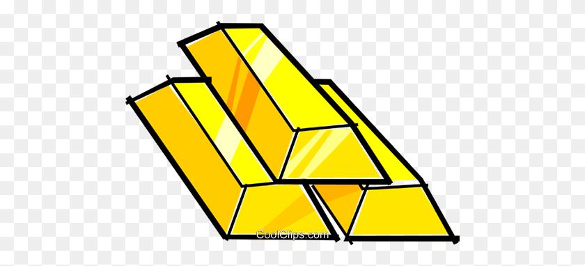 Gold Bars Royalty Free Vector Clip Art Illustration - Gold Bar Clipart