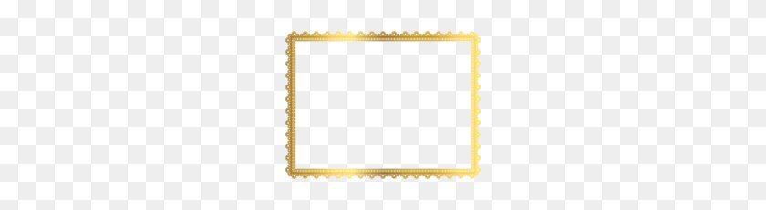 Gold Border Frame Png Transparent Picture Vector, Clipart - Gold Border PNG