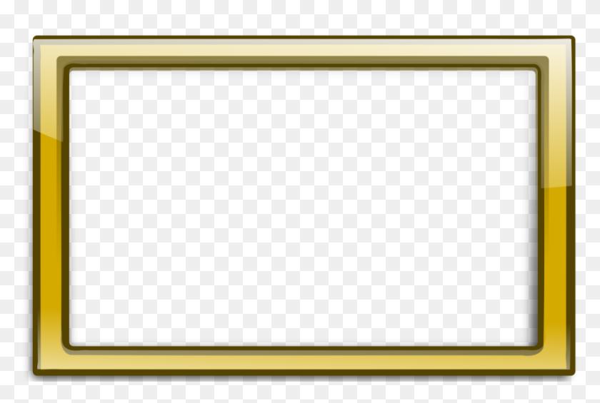 Gold Border Frame Png Vector, Clipart - Gold Border PNG