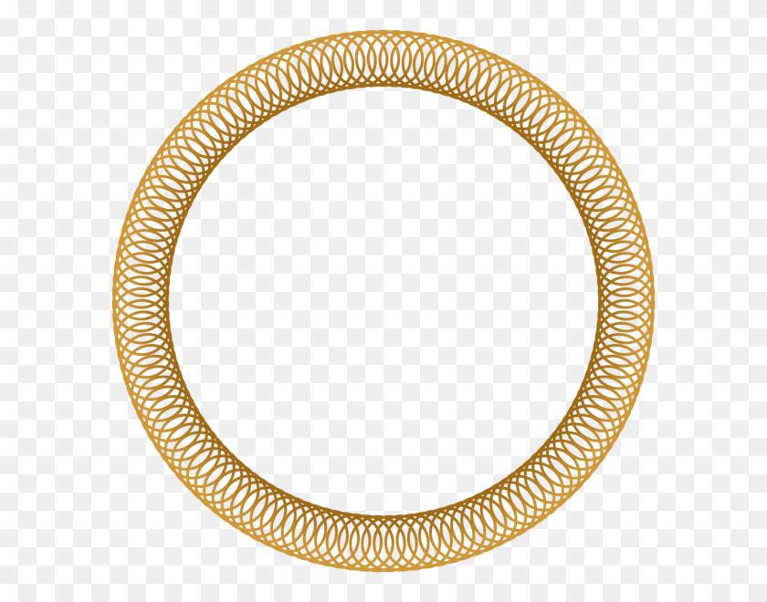 Gold Circular Border - Gold Border PNG