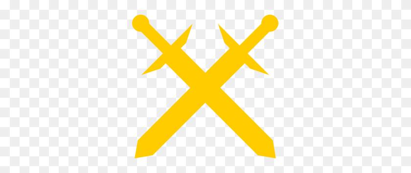 Gold Crossed Swords Clip Art - Crossed Guns Clipart