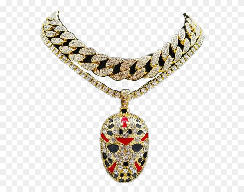 Gold Cuban Chain Jason Pendant - Pendant PNG