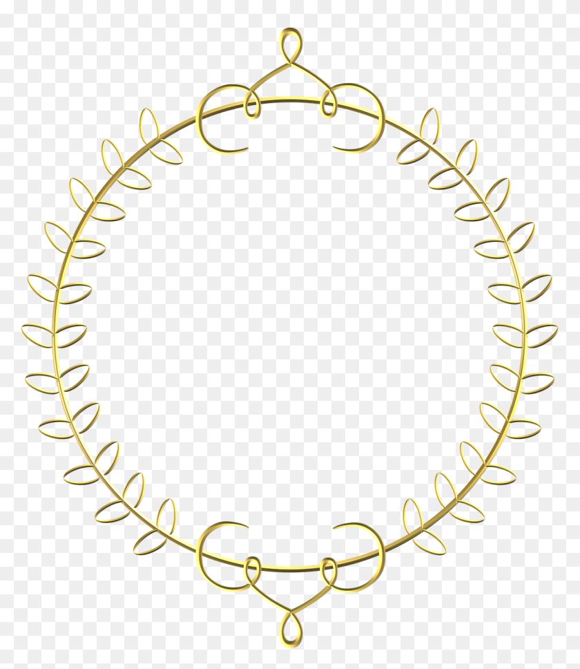 Gold, Frame, Circle, Border, Decoration - Gold Frame PNG