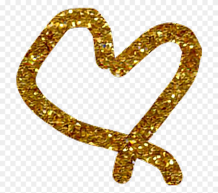 Gold Heart - Gold Heart PNG