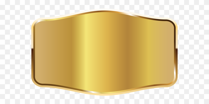 Gold Label Png Clipart - Gold PNG