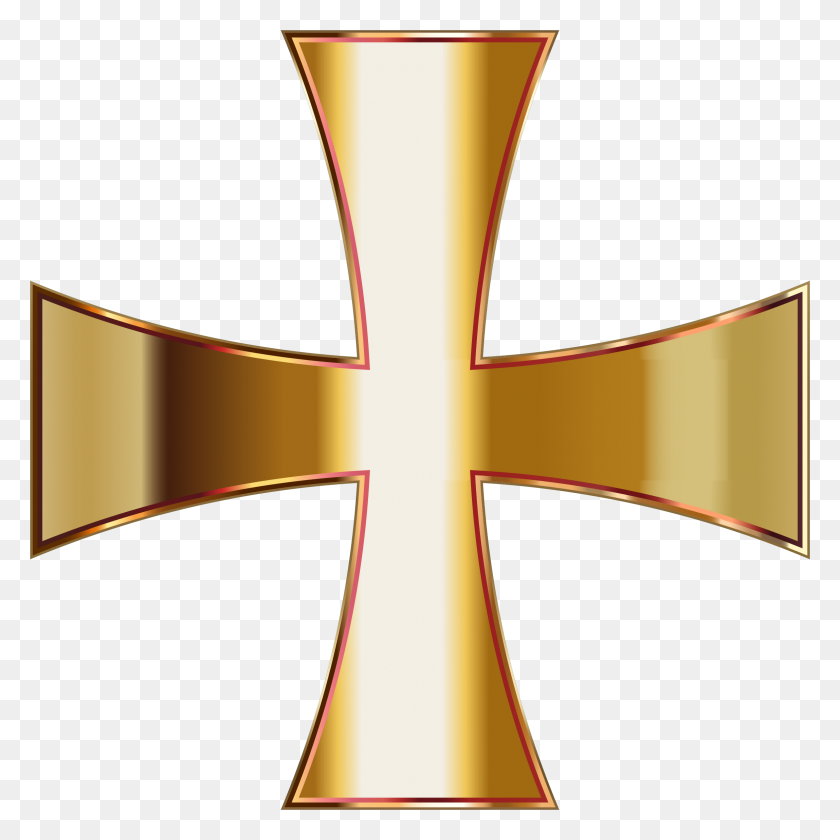 Gold Maltese Cross No Background Icons Png - Gold Cross PNG