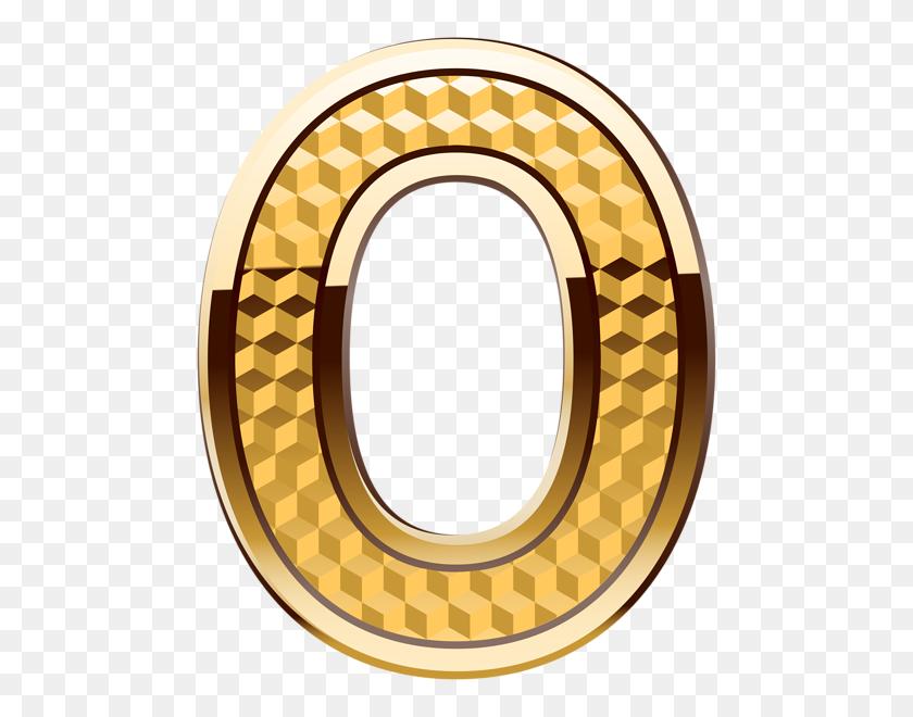 Gold Number Zero Png Clip Art - Zero Clipart