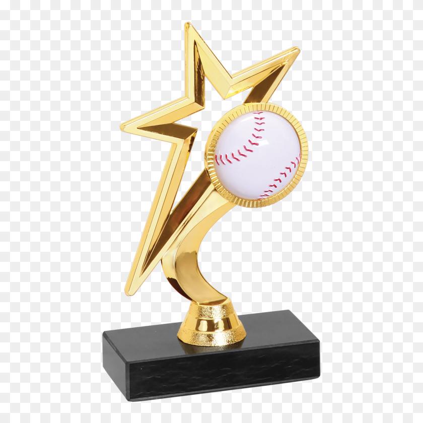 Gold Star Baseballsoftball Figure Trophy Impressive Trophies - Lombardi Trophy PNG