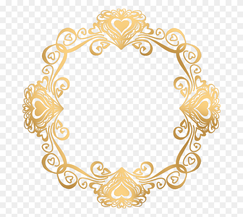 Gold Vintage Border - Elegant Borders Clipart