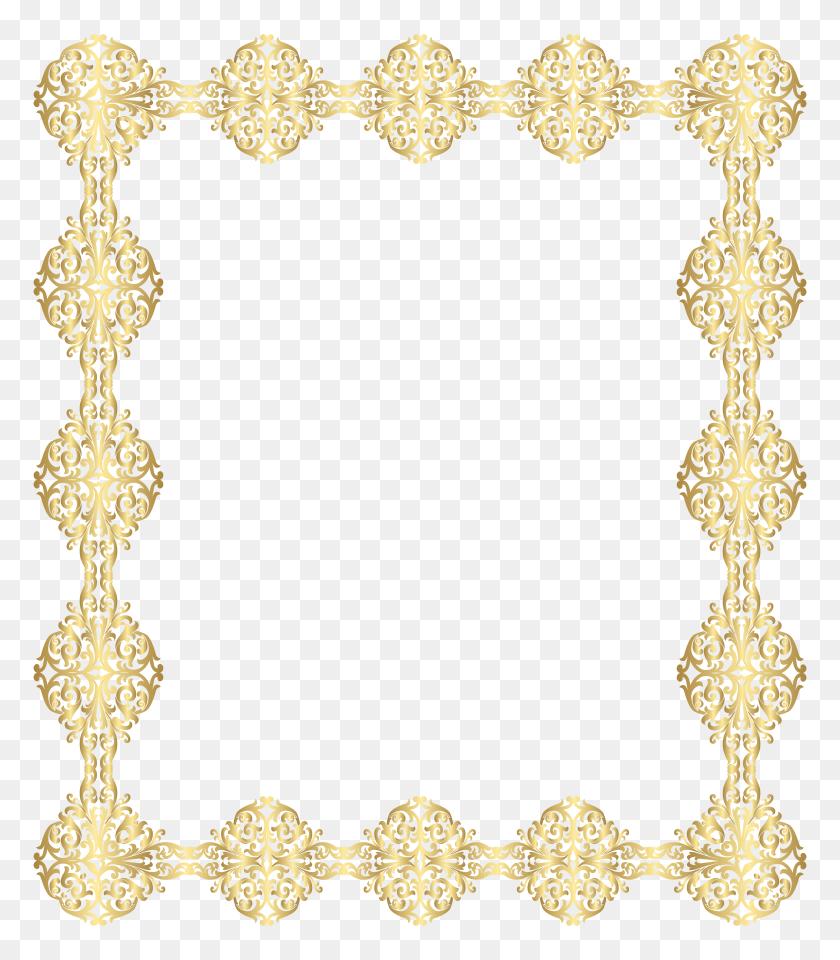 Golden Border Transparent Png Clip - Snowflake Border PNG