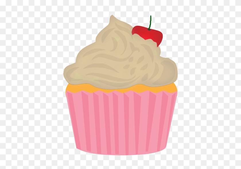 Golden Clipart Cupcake - Pink Cupcake Clipart