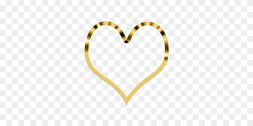 Golden Heart Simpl - Gold Heart PNG