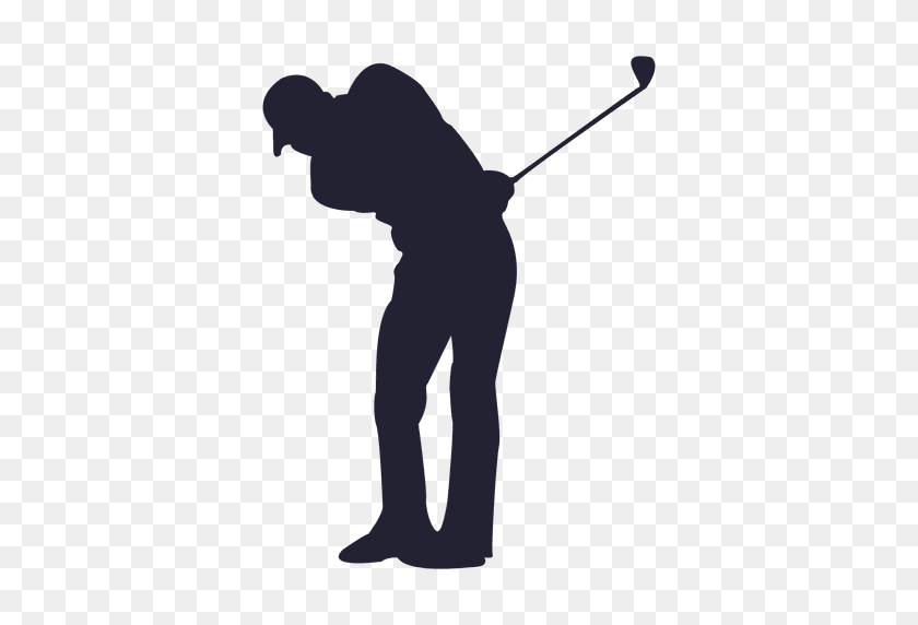 Golf Player Silhouette - Golf PNG