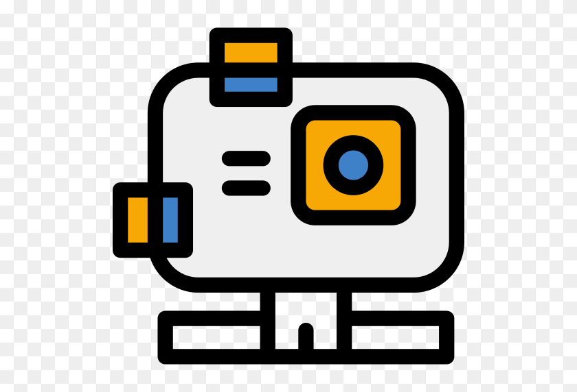 Gopro Camera Clipart Eccentric - Gopro Hero 5 Logo - Free Transparent PNG  Clipart Images Download