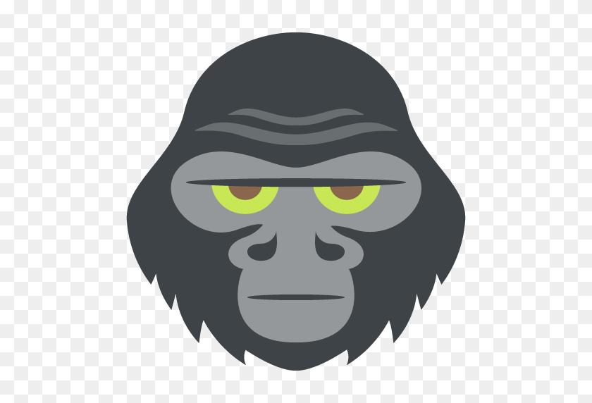 Gorilla Emoji Vector Icon Free Download Vector Logos Art - Gorilla Clipart