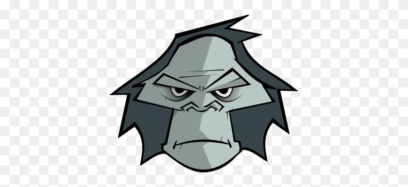 Gorilla Face Clipart, Clip Art Cartoon Animal Faces Gorilla Bampw - Dragster Clipart