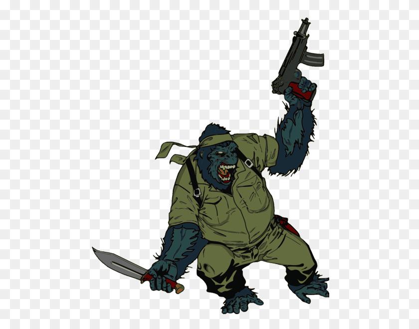 Gorilla Soldier Clip Art - Gorilla Clipart