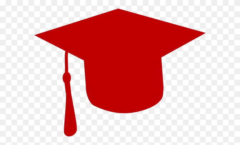 Grad Cap - Red Graduation Cap Clipart