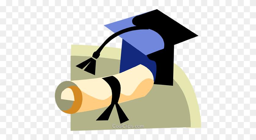 Graduation Cap And Diploma Royalty Free Vector Clip Art - Free Clipart Graduation Cap And Diploma