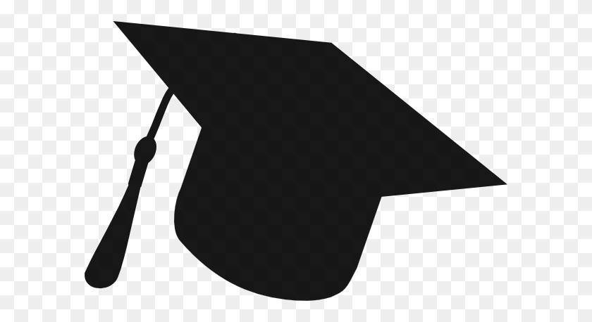 Graduation Hat Silhouette Clip Art - White Graduation Cap Clipart