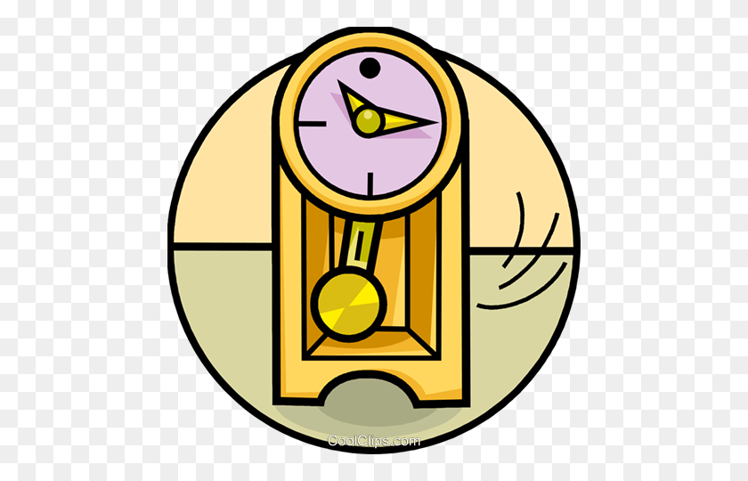 Grandfather Clocks Royalty Free Vector Clip Art Illustration - Grandfather Clipart