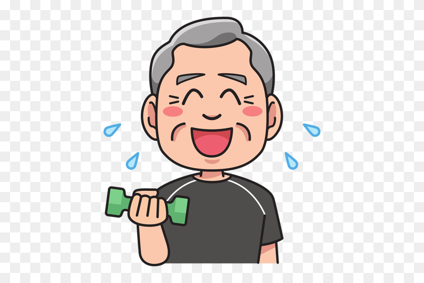 Grandfather In A Training - Grandfather Clipart