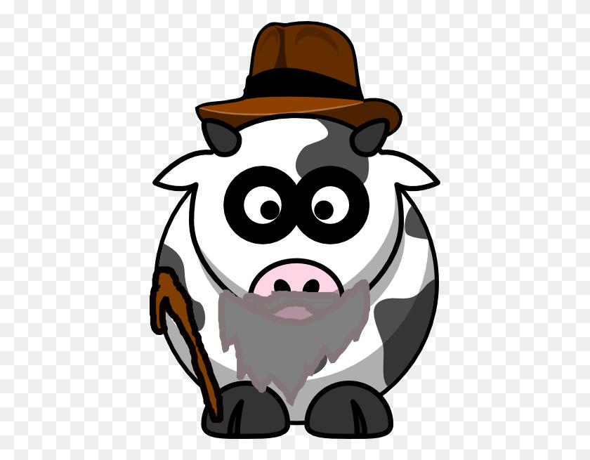 Grandpa Cow Clip Art - Grandpa Clipart