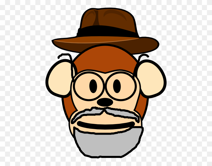 Grandpa Monkey Clip Art - Grandpa Clipart