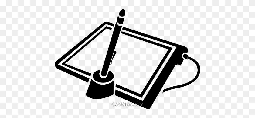 Graphics Tablet Royalty Free Vector Clip Art Illustration - Tablet Clipart
