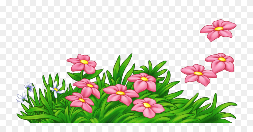 1740x846 Grass With Pink Flowers Png - Marcos PNG