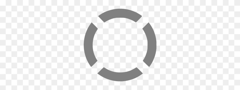 Gray Circle Dashed Icon - Gray Circle PNG