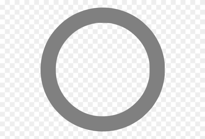Gray Circle Outline Icon - Gray Circle PNG