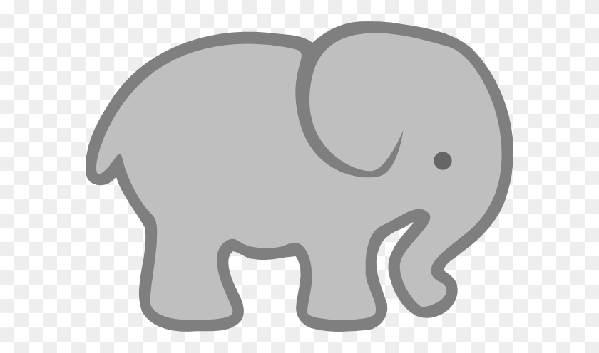 Gray Elephant Outline Clip Art At Vector Clip Art Grams Place - Giraffe Baby Clipart