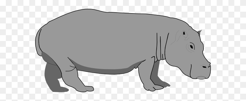 Gray Hippo Png, Clip Art For Web - Gray Clipart