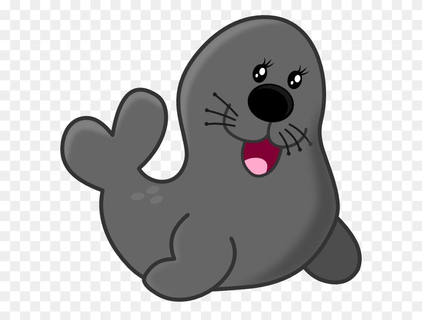 Gray Seal Clip Art - Circus Lion Clipart