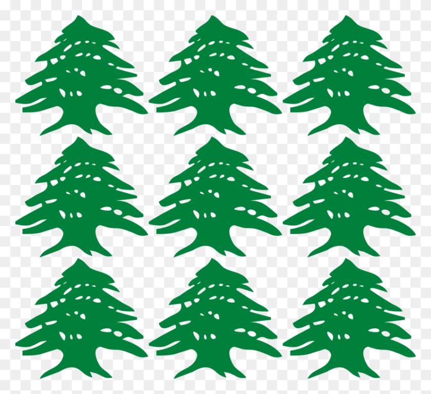 Greater Lebanon Cedrus Libani Flag Of Lebanon Tree - Cedar Tree Clipart