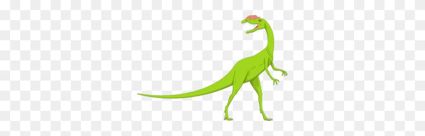 Green And Pink Long Neck Dinosaur Clip Art - Neck Clipart