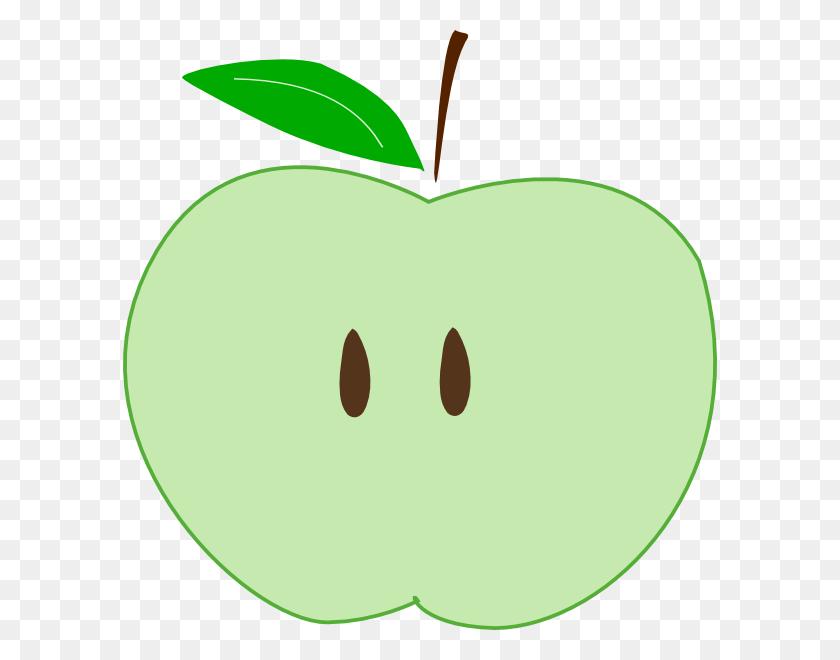 Green Apple Slice Clip Art - Apple Slice Clipart