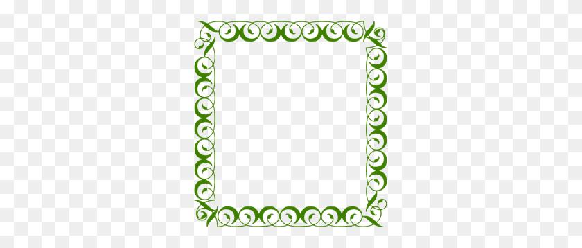 279x298 Green Border Png Clip Arts For Web - Green Border PNG