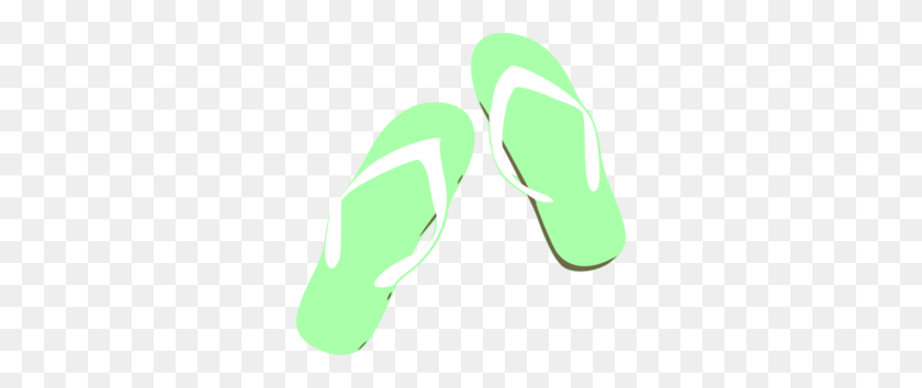 300x294 Green Clipart Flip Flops - Flip Flop Clip Art Free