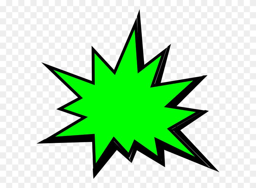 Green Comic Pow Clip Art - Pow Clipart