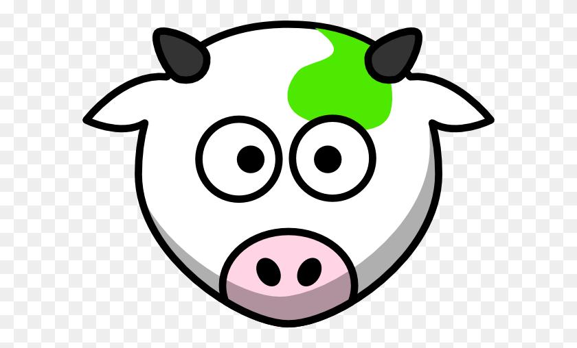600x448 Green Cow Clip Art - Free Cow Clipart
