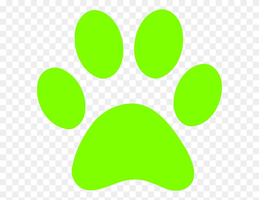 Green Dog Paw Clipart - Dog Footprint Clipart