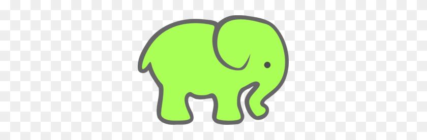 Green Elephant Clip Art - Elephant Face Clipart